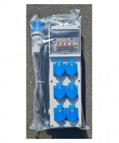 Mobile Distribution power box 6 x 15A Sockets