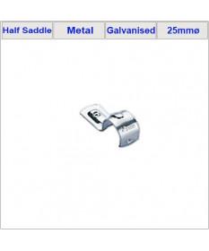 25mm Half Saddles -Galvanized x 100