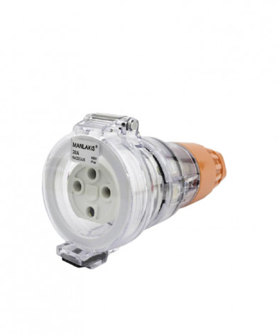Industrial Female Connector 4 Pin 20A IP66 500v