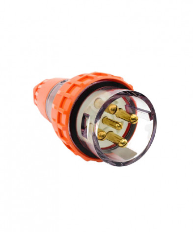 Industrial Plug, 5 Round Pins, 32A, 500Vac, IP66