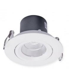 LED 9W DOWNLIGHT TILTABLE 3K 72MM CUT OUT WHITE OR BLACK