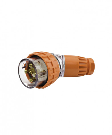 Industrial Plug Angled 5 Round Pins 32A 500vac IP66
