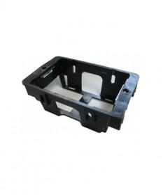 FB35-S, Flush Box with Quick Fix Metal Insert, 35mm deep, Single - Black