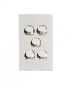 5 Gang Switch 16A - White