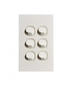 6 Gang Switch 16A - White