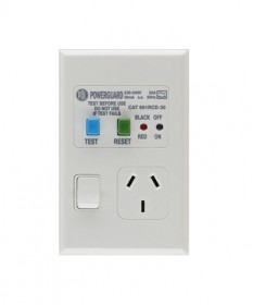PDL 691RCD-30, Single Vertical RCD Switched Socket Outlet, 10A, 30mA, 250Vac