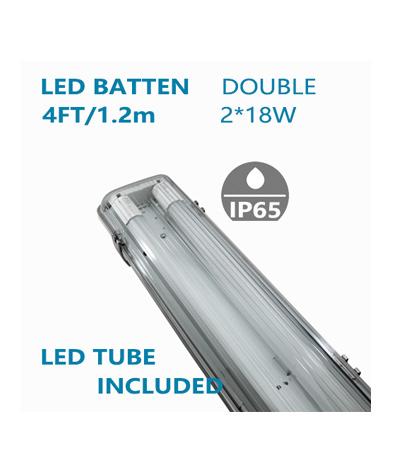 LED Double Waterproofed Batten 4FT