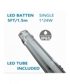 LED Single Waterproofed Batten 5FT