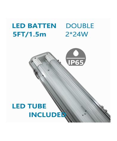 LED Double Waterproofed Batten 5FT