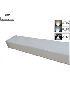 LED Double Diffused Batten 5FT-PC Square