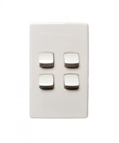 LBL004 Chint 4 Gang Switch-White