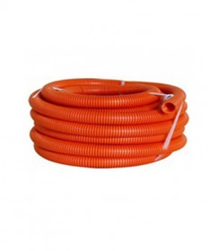 AS50025 25mm  Corrugated Flexible Conduit, HD (Orange) - 10m/roll