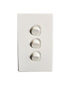 3 Gang Switch 16A - White