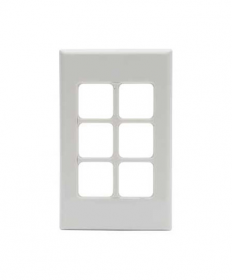 PDL 686VH, 6 Gang Grid and Cover Plate Only
