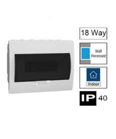 18ways Switchboard, Flush Mounting, Transparent Door, IP40